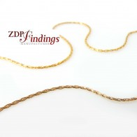 0.8mm 14k Gold Filled Stringing Chain