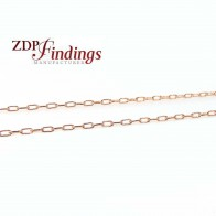 1mm 14k Rose Gold Filled Flat Cable Chain