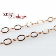 2.6mm 14k Rose Gold Filled Flat Cable Chain