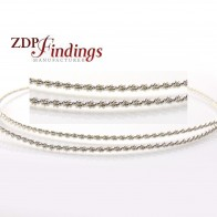 12 Inch Gallery Wire 935 Sterling Silver , 1.4 x 1.4mm