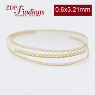 7.7mm x 0.6mm Brass Strip Gallery Decorative Ribbon Wire