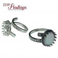 12mm 925 Silver Heavy Ring Base Adjustable