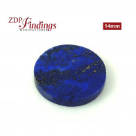 Dumortierite Flat Round 14mm