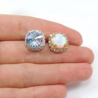 ss47 1122 Swarovski Post Rhinestone Earrings, Choose your options