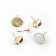 Gold Filled Round Bezel Post Earrings