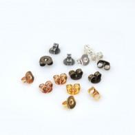 5x4mm Brass Plated Earring Backs Butterflies