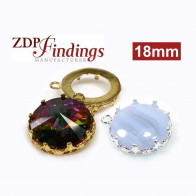 Round 18mm Bezel Pendant Setting