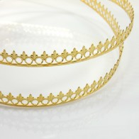 24 Inch Gallery Wire Shiny Brass, 9x0.7mm