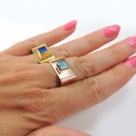 Square 6mm Bezel Ring fit Flat Back Gemstone