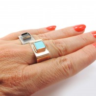 Square 8mm Bezel Ring fit Flat Back Gemstone