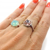 10mm Square Adjustable Ring fit Swarovski 4470