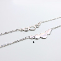 Silver Plated Link Chain Delicate Geometric Bracelet, Length 7.5