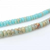 6x4mm Natural Jasper Rondelle Beads 16