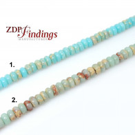 "6x4mm Natural Jasper Rondelle Beads 16"" (206049)"