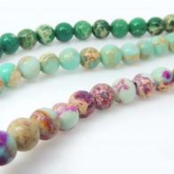 6mm Natural Jasper Round Beads 16