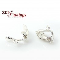 16mm Silver 925 Clip on Earrings Finding