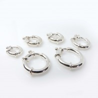 Big Bold Spring Ring Clasps Sterling Silver 925