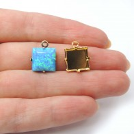 12mm Square Pendant Bezel Cup Setting fit Swarovski 4447