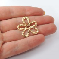 25mm Flower Charm Pendant