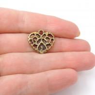 18mm Filigree Heart Charm Pendant