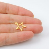 15mm Fashion Star Pendant Charm