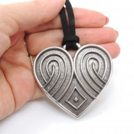 60mm Tribal Heart Charm Pendant Necklace