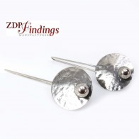 Large 60mm Antique Silver Plated Disc Earrings