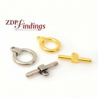 Round 18mm Square Cube Toggle Clasp Lock