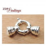 Big 15mm Bold Spring Ring Clasps Sterling Silver 925