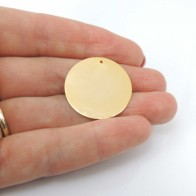 Round 20mm Plain Disc Charm Pendant