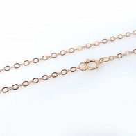 2mm 14k Rose Gold Filled Flat Cable Chain 17