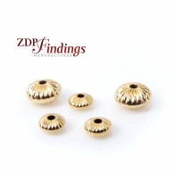 14K Gold Filled Rondelle Laser Diamond Cut Spacer Beads