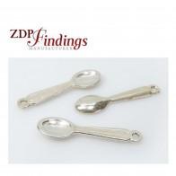 23mm Long Silver 925 Mini Spoon Pendant Charm
