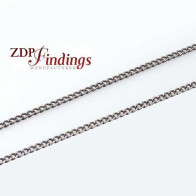 3.28 Feet (1 Meter) Brass Plated Curb Chain Thickness 0.8x1.2mm