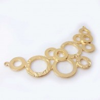 Large 107x55mm Quality Cast Matte Gold