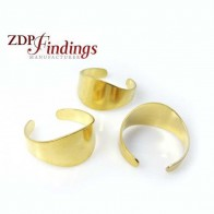 Adjustable Brass Ring Setting Blank, 12mm top
