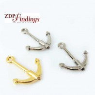 Large 22x26mm Anchor Pendant Charm