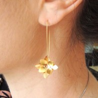 50mm Leverback Flower Earrings With Hole 1.7mm