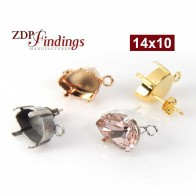 14x10mm 4320 European Crystals Post Earrings