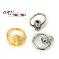 Round 28mm Scull Halloween Piercing Ring Hoop
