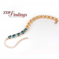 "160mm (6.5"") Bracelet Base Fit 15 pcs Swarovski 39SS"