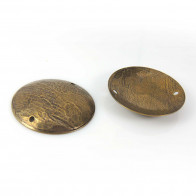 Round 30mm Brushed Hammered Antique Brass Dome Discs