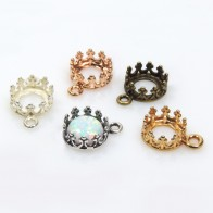 6mm Round Crown Bezel Pendant