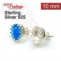 10mm Post Earring, 925 Sterling silver