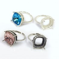 12mm 4470 Ring Base, Shiny Sterling Silver 925, Choose your finish.