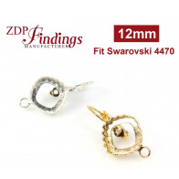 12mm 4470 Earring base with loop