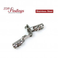 stainless Steel Clasp/Closure, Locking Snap-in-2.50mm