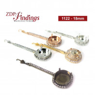 18mm 1122 Rhinestones Bar Bezel