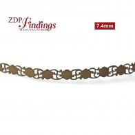 7.4mm Brass Gallery Pattern Wire, 24 inch