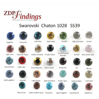 Swarovski SS39 Multi Colors 8.2mm Round Xilion Crystal 1088 Chaton 39ss